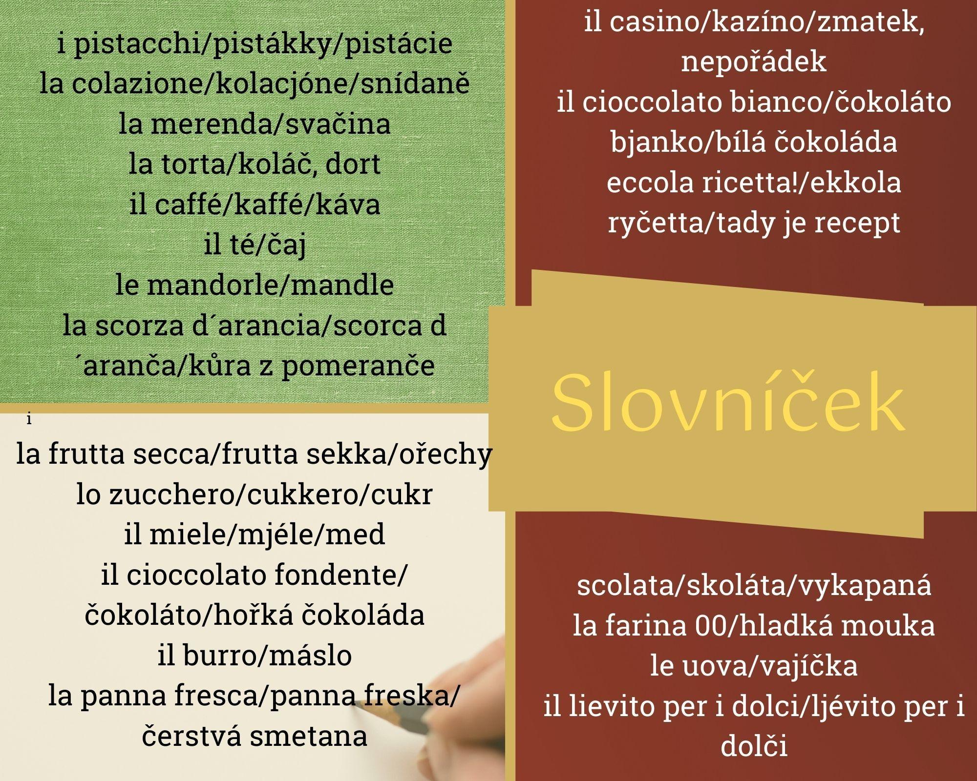 Italská slovní zásoba aitalský jazyk.