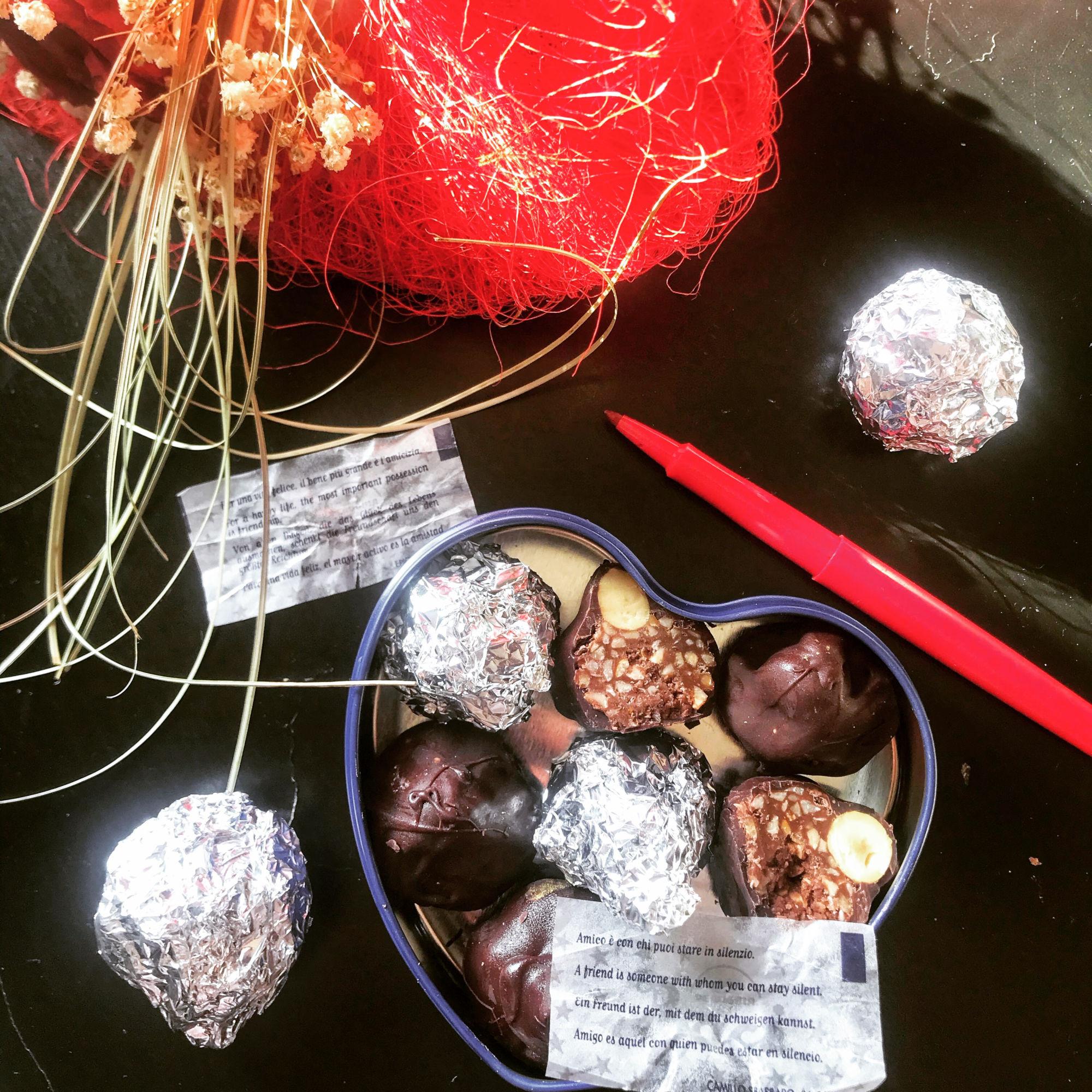 Domácí čokoládové pralinky baci perugina
